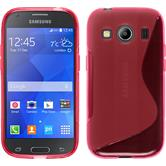 Silicone Case for Samsung Galaxy Ace 4 S-Style hot pink