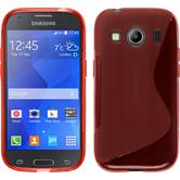 Silicone Case for Samsung Galaxy Ace 4 S-Style red