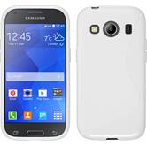 Silicone Case for Samsung Galaxy Ace 4 S-Style white