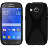 Silicone Case for Samsung Galaxy Ace 4 X-Style black