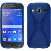 Silicone Case for Samsung Galaxy Ace 4 X-Style blue