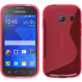 Silicone Case for Samsung Galaxy Ace Style S-Style hot pink