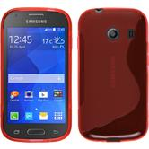Silicone Case for Samsung Galaxy Ace Style S-Style red