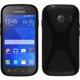 Silicone Case for Samsung Galaxy Ace Style X-Style black