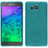 Silicone Case for Samsung Galaxy Alpha brushed blue