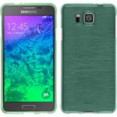 Silicone Case for Samsung Galaxy Alpha brushed green