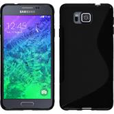 Silicone Case for Samsung Galaxy Alpha S-Style black