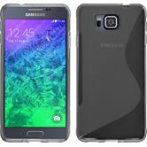 Silicone Case for Samsung Galaxy Alpha S-Style gray