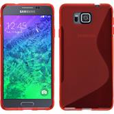 Silicone Case for Samsung Galaxy Alpha S-Style red