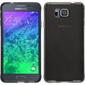 Silicone Case for Samsung Galaxy Alpha transparent black