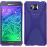 Silicone Case for Samsung Galaxy Alpha X-Style purple
