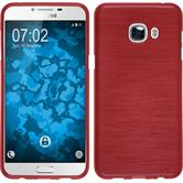 Silicone Case for Samsung Galaxy C5 brushed red