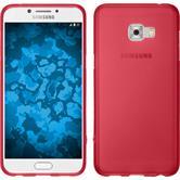 Silicone Case Galaxy C5 Pro matt red + protective foils