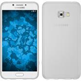 Silicone Case Galaxy C5 Pro matt white + protective foils