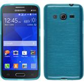Silicone Case for Samsung Galaxy Core 2 brushed blue