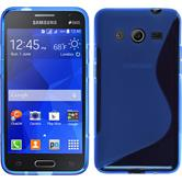 Silicone Case for Samsung Galaxy Core 2 S-Style blue