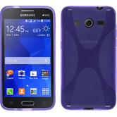 Silicone Case for Samsung Galaxy Core 2 X-Style purple