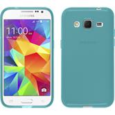 Silicone Case for Samsung Galaxy Core Prime transparent turquoise