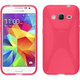Silicone Case for Samsung Galaxy Core Prime X-Style hot pink