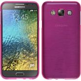 Silicone Case for Samsung Galaxy E5 brushed hot pink