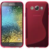 Silicone Case for Samsung Galaxy E5 S-Style hot pink
