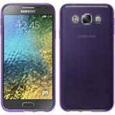 Silicone Case for Samsung Galaxy E5 transparent purple