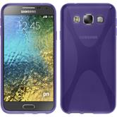 Silicone Case for Samsung Galaxy E5 X-Style purple