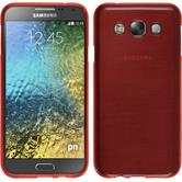 Silicone Case for Samsung Galaxy E7 brushed red
