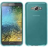 Silicone Case for Samsung Galaxy E7 transparent turquoise