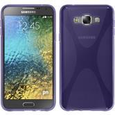 Silicone Case for Samsung Galaxy E7 X-Style purple