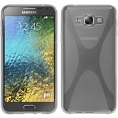 Silicone Case for Samsung Galaxy E7 X-Style transparent