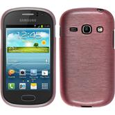 Silicone Case for Samsung Galaxy Fame brushed pink
