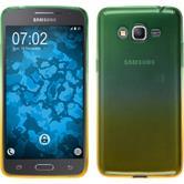 Silicone Case Galaxy Grand Prime Plus Ombrè Design:03 + protective foils