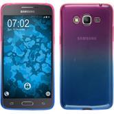 Silicone Case Galaxy Grand Prime Plus Ombrè Design:06 + protective foils