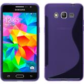 Silicone Case for Samsung Galaxy Grand Prime S-Style purple