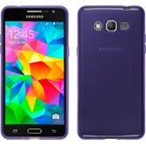 Silicone Case for Samsung Galaxy Grand Prime transparent purple