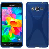 Silicone Case for Samsung Galaxy Grand Prime X-Style blue
