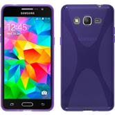 Silicone Case for Samsung Galaxy Grand Prime X-Style purple