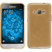 Silicone Case for Samsung Galaxy J1 (2016) J120 Iced gold