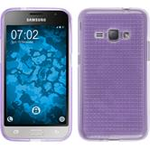Silicone Case for Samsung Galaxy J1 (2016) J120 Iced purple