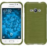 Silicone Case for Samsung Galaxy J1 Ace brushed pastel green