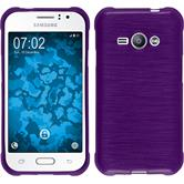 Silicone Case for Samsung Galaxy J1 Ace brushed purple