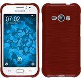 Silicone Case for Samsung Galaxy J1 Ace brushed red