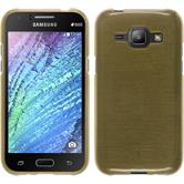 Silicone Case for Samsung Galaxy J1 brushed gold