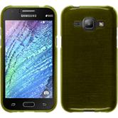 Silicone Case for Samsung Galaxy J1 brushed pastel green