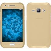 Silicone Case for Samsung Galaxy J1 (J100 2015) 360° Fullbody gold