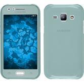 Silicone Case for Samsung Galaxy J1 (J100 2015) 360° Fullbody light blue