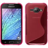 Silicone Case for Samsung Galaxy J1 S-Style hot pink