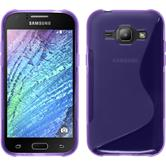 Silicone Case for Samsung Galaxy J1 S-Style purple