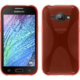 Silicone Case for Samsung Galaxy J1 X-Style red